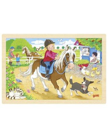 Goki - Puzzle kucyk na farmie