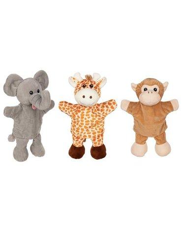Goki - Pacynki z nóżkami - żyrafa, małpka, słoń