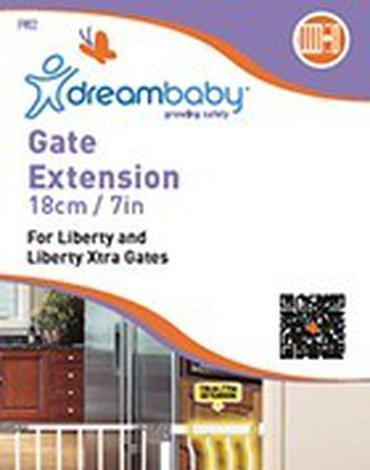 Dreambaby - Rozszerzenie bramki bezpieczeństwa Liberty - 18cm (wys. 76cm) - białe
