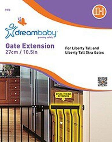 Dreambaby - Rozszerzenie bramki bezpieczeństwa Liberty - 27cm (wys. 76cm) - czarne