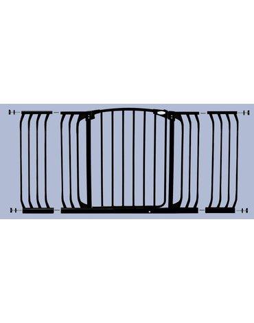 Dreambaby - Rozszerzenie bramki bezpiec.Chelsea-27cm(wys.75cm)-czarne(brąz.karton)