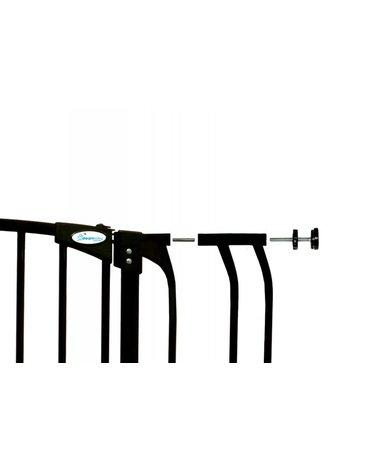 Dreambaby - Rozszerzenie bramki bezpiecz.Chelsea-18cm(wys. 1m)-czarne(brąz.karton)