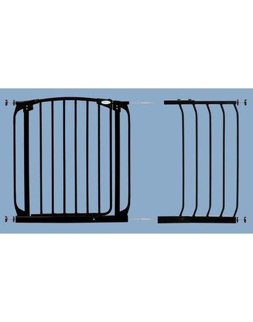 Dreambaby - Rozszerzenie bramki bezpiec.Chelsea-36cm(wys.75cm)-czarne(brąz.karton)