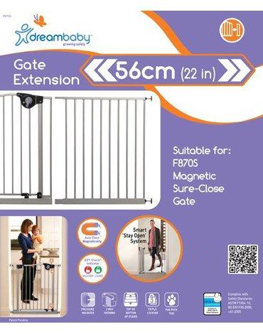 Dreambaby - Rozszerzenie bramki bezpieczeństwa Empire - 56cm (wys. 75cm) - srebrne