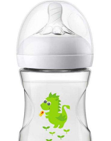 Avent - Butelka dla niemowląt Natural 260ml Zielony Smok