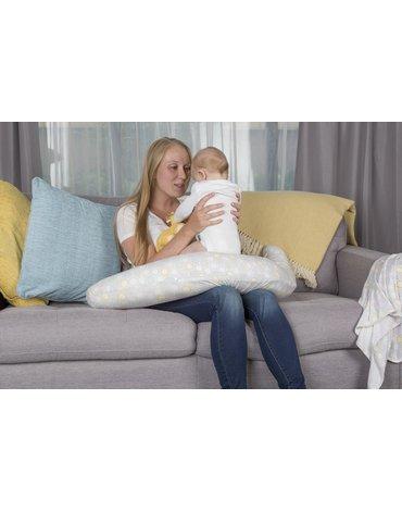 CuddleCo - Poduszka Rogal Comfi-Mum 5w1 bambus - plaster miodu pastelowy