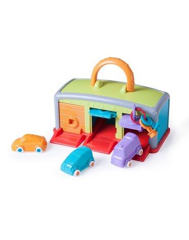 Miniland - zabawki edukacyjne - Zabawka edukacyjna dla dziecka - walizka Mój Garaż