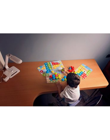 Miniland - zabawki edukacyjne - Tablica edukacyjna / Puzzle Superpegs - 32 elementy