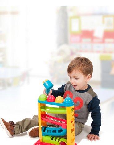 Miniland - zabawki edukacyjne - Kolorowa zjeżdżalnia z piłeczkami