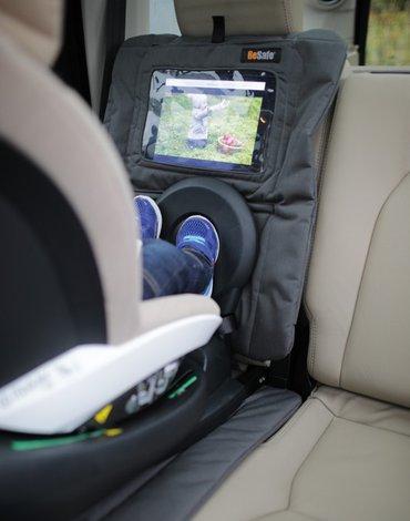 BeSafe akcesoria - Ochraniacz fotela samochodowego z kieszonką na tablet - antracyt