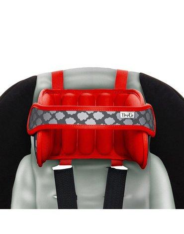NapUp - Opaska podtrzymująca głowę w foteliku samochodowym - czerwona