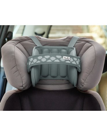 NapUp - Opaska podtrzymująca głowę w foteliku samochodowym - szara