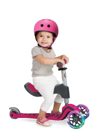 Hulajnoga Smart Trike Scooter T1 + świecące koła LED + torba - różowa