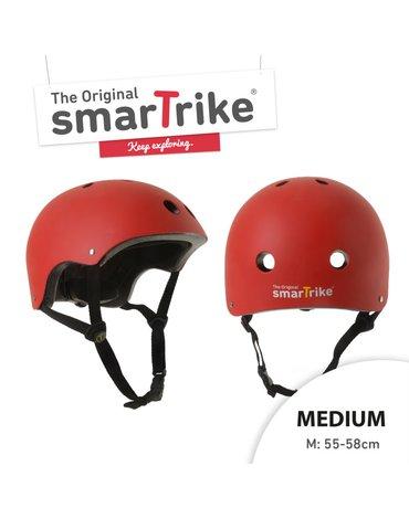 Kask rowerowy Smart Trike - rozmiar M - czerwony