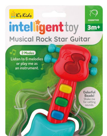 K's Kids Inteligent Toy - Zabawka muzyczna Gitara gwiazdy rock'a