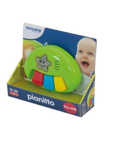 Miniland - zabawki edukacyjne - Kolorowe edukacyjne Pianinko z muzyką i światełkami