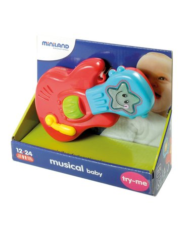 Miniland - zabawki edukacyjne - Zabawka edukacyjna z muzyką i światełkami - Gitara bobasa