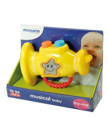 Miniland - zabawki edukacyjne - Zabawka edukacyjna Muzyczna trąbka dla dzieci