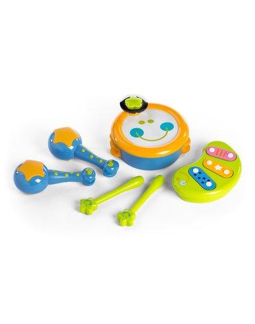 Miniland - zabawki edukacyjne - Moja pierwsza orkiestra - zestaw zabawek muzycznych - 4 elementy