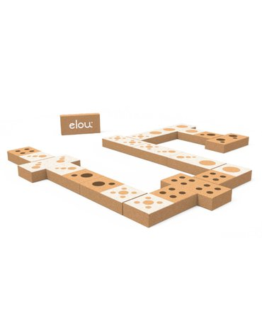 Elou - Ekologiczne klocki korkowe - Domino