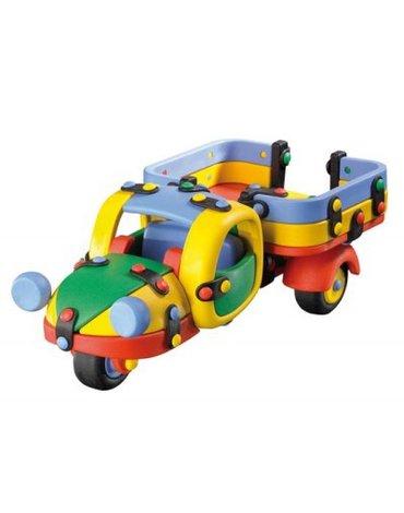 Mic-o-Mic - Zabawki konstrukcyjne - Wesoły konstruktor - Ciężarówka trzykołowa