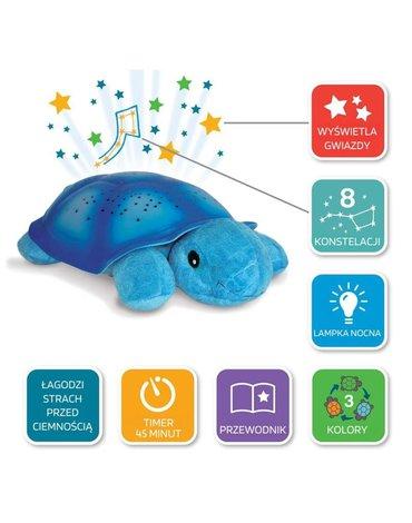Cloud b®Twilight Turtle™ - Blue - Żółw - niebieski - Lampka