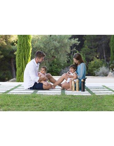 Miniland - Termos dla dziecka próżniowy Deluxe z termoopakowaniem 500ml - złoty