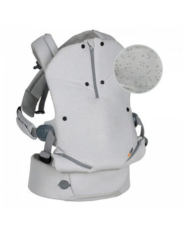 BeSafe tekstylia - Nosidełko dla dziecka BeSafe Haven - Premium - szare