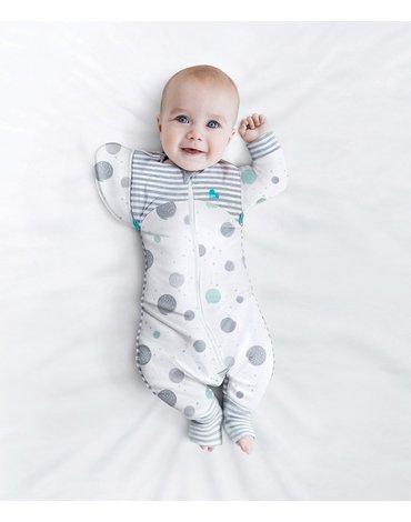 Love to Dream - Piżama przejściowa Transition Suit-rozmiar L-biała-ETAP 2-0.2 TOG Lite