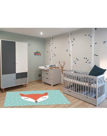 MARKO - Dywan dla dzieci ultra miękki 100x150 Lisek