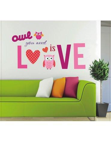 MARKO - Dekoracje Ścienne - Dekoracje ścienne - Owl You Need Is Love