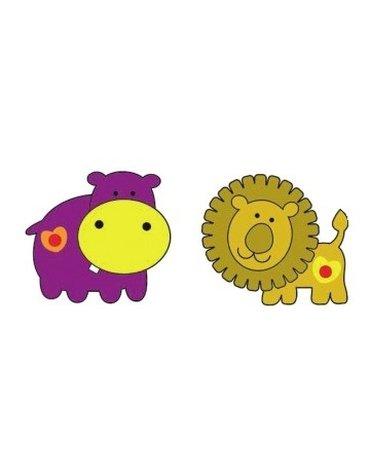 MARKO - Dekoracje Ścienne - Dekoracje ścienne - Hipopotam i Lew