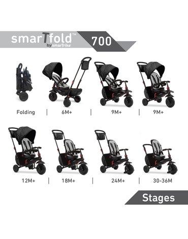 Smart Trike Składany rowerek Folding Trike 700 8w1 - czarny