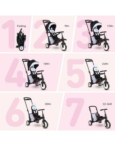 Smart Trike Składany rowerek Folding Trike STR 5 7w1 - Króliczek