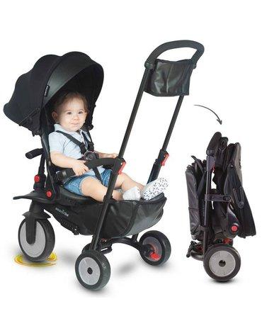 Składany rowerek dziecięcy/wózek Smart Trike 8w1 STR7 - czarny