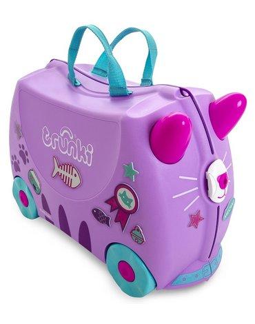 Trunki - Jeżdżąca walizeczka - Kotek Cassie + naklejki