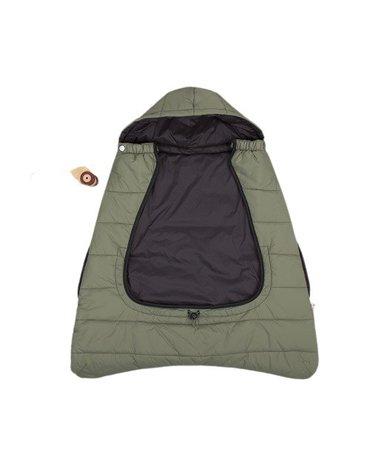 CuddleCo - Śpiworek do nosidełka/wózka/fotelika 3w1 Comfi-Cape - khaki/czarny