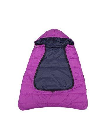 CuddleCo - Śpiworek do nosidełka/wózka/fotelika 3w1 Comfi-Cape - fuksja/czarny