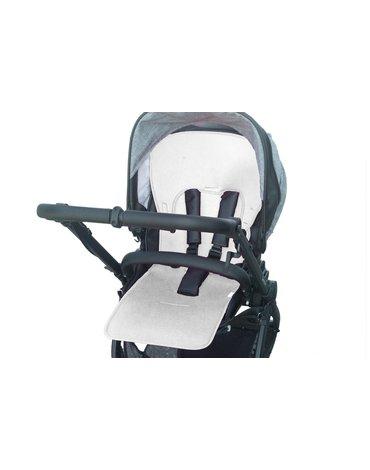 Kuli-Muli - Uniwersalna wkładka antypotowa do wózka spacerowego - Lyocell - biała