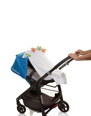 Dreambaby - Klipsy do wózka - 4 szt. - 2x zielony; 2x pomarańczowy