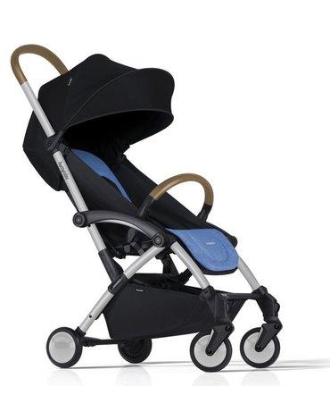 Wózek spacerowy Bumprider Connect - stelaż biały/siedzisko niebieskie