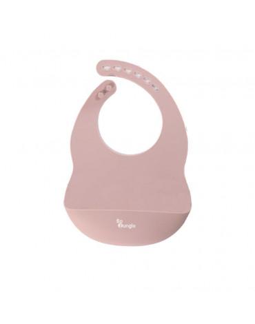 Bo Jungle - B-Śliniak silikonowy z kieszonką Pink