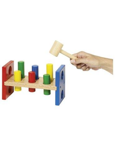 Goki® - Drewniana przybijanka z młotkiem, GOKI-58954 - USZKODZONE OPAKOWANIE