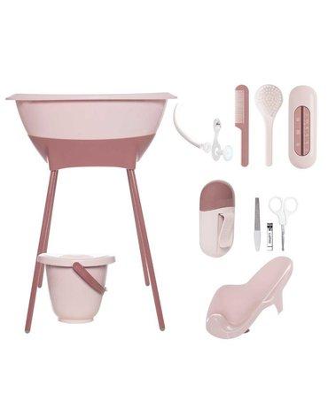 Zestaw kąpielowy 8 elem. LUMA Blossom Pink
