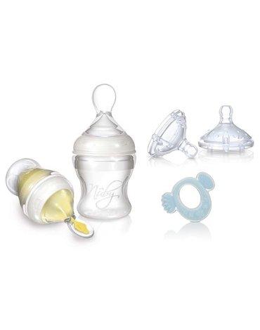 Nuby - Zestaw do karmienia Infafeeder + smoczki na butelkę + gryzak
