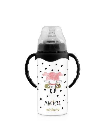 Miniland - Butelka termiczna ze stali nierdzewnej ze smoczkiem 240ml Magical