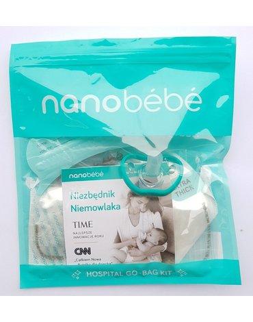 Zestaw testowy Nanobebe (3 torebki, 2 wkładki, smoczek)