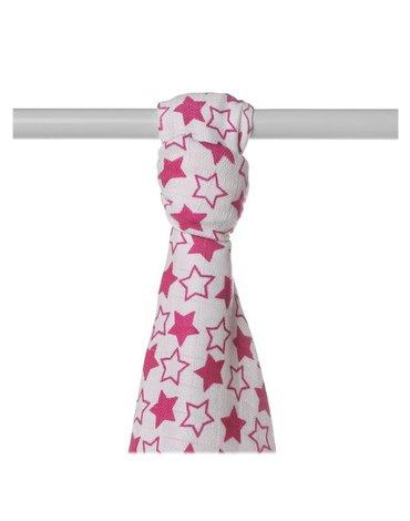 Ręcznik bambusowy XKKO BMB 90x100 - Little Stars Magenta