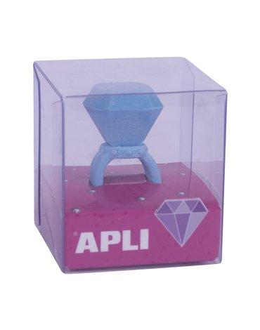 Gumka do ścierania pierścionek Apli Kids - Niebieska
