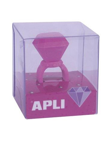 Gumka do ścierania pierścionek Apli Kids - Różowa